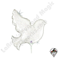 Betallatex 14 Inch Shape Pearl White Dove Foil Balloon 1ct
