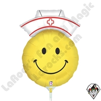14 Inch Shape Smiley Nurse Foil Balloon Betallic 1ct