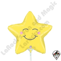 14 Inch Shape Chubby Star Foil Balloon Betallic 1ct
