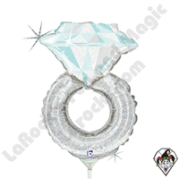 14 Inch Shape Wedding Ring Foil Balloon Betallic 1ct
