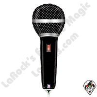 14 Inch Shape Microphone Foil Balloon Betallic 1ct