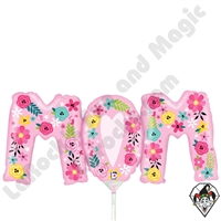14 Inch Shape Floral Mom Foil Balloon Betallic 1ct