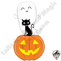 60 Inch Shape Special Delivery Ghost Foil Balloon Betallic 1ct