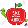 40 Inch Shape Back To School Apple Foil Balloon Betallic 1ct