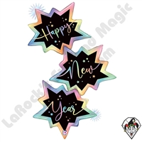 51 Inch Shape Opal New Year Trio Foil Balloon Betallic 1ct