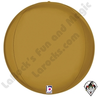 15 Inch Dimensional Satin Gold Globe Foil Balloon Betallic 1ct
