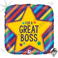 18 Inch Square Great Boss Foil Balloon Betallic 1ct