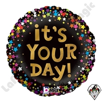 Betallic 18 Inch Round It's Your Day Stars Foil Balloon 1ct