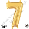 Betallatex 14 Inch Number 7 Gold Foil Megaloon Balloon 1ct