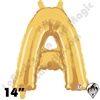 Betallatex 14 Inch Letter A Gold Foil Megaloon Balloon 1ct