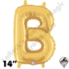 Betallatex 14 Inch Letter B Gold Foil Megaloon Balloon 1ct