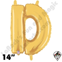 Betallatex 14 Inch Letter D Gold Foil Megaloon Balloon 1ct