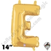 Betallatex 14 Inch Letter E Gold Foil Megaloon Balloon 1ct