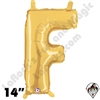 Betallatex 14 Inch Letter F Gold Foil Megaloon Balloon 1ct