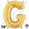 Betallatex 14 Inch Letter G Gold Foil Megaloon Balloon 1ct