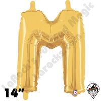 Betallatex 14 Inch Letter M Gold Foil Megaloon Balloon 1ct