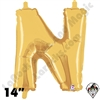 Betallatex 14 Inch Letter N Gold Foil Megaloon Balloon 1ct