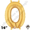 Betallatex 14 Inch Letter O Gold Foil Megaloon Balloon 1ct