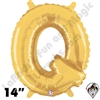 Betallatex 14 Inch Letter Q Gold Foil Megaloon Balloon 1ct