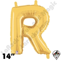Betallatex 14 Inch Letter R Gold Foil Megaloon Balloon 1ct