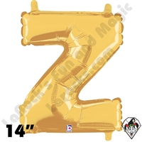 Betallatex 14 Inch Letter Z Gold Foil Megaloon Balloon 1ct