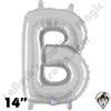 Betallatex 14 Inch Letter B Silver Foil Megaloon Balloon 1ct