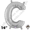 Betallatex 14 Inch Letter C Silver Foil Megaloon Balloon 1ct