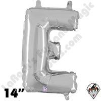 Betallatex 14 Inch Letter E Silver Foil Megaloon Balloon 1ct