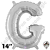 Betallatex 14 Inch Letter G Silver Foil Megaloon Balloon 1ct