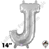 Betallatex 14 Inch Letter J Silver Foil Megaloon Balloon 1ct