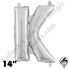 Betallatex 14 Inch Letter K Silver Foil Megaloon Balloon 1ct