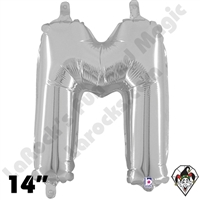 Betallatex 14 Inch Letter M Silver Foil Megaloon Balloon 1ct