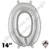 Betallatex 14 Inch Letter O Silver Foil Megaloon Balloon 1ct