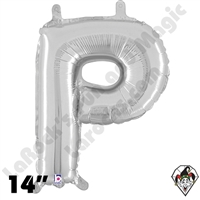 Betallatex 14 Inch Letter P Silver Foil Megaloon Balloon 1ct