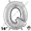 Betallatex 14 Inch Letter Q Silver Foil Megaloon Balloon 1ct