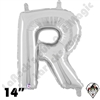 Betallatex 14 Inch Letter R Silver Foil Megaloon Balloon 1ct