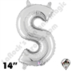 Betallatex 14 Inch Letter S Silver Foil Megaloon Balloon 1ct