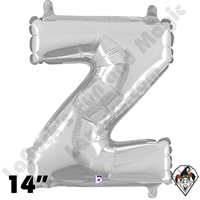 Betallatex 14 Inch Letter Z Silver Foil Megaloon Balloon 1ct