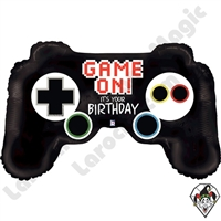 36 Inch Shape Game Controller Birthday Foil Balloon Betallic 1ct