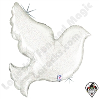 Betallic 33 Inch Shape Pearl White Dove Foil Balloon 1ct