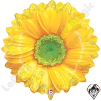 Betallatex 18 Inch Shape Bright Blooms Yellow Foil Balloon 1ct