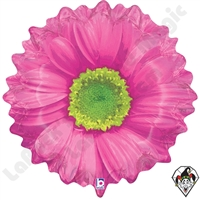 Betallatex 18 Inch Shape Bright Blooms Pink Foil Balloon 1ct