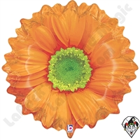 Betallatex 18 Inch Shape Bright Blooms Orange Foil Balloon 1ct