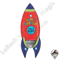 Betallic 36 Inch Dimensional Blasting Birthday Rocket Foil Balloon 1ct