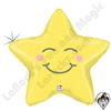 Betallatex 26 Inch Shaped Chubby Star Holographic Foil Balloon 1ct