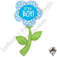 60 Inch Shape Fresh Picks It's A Boy Foil Balloon Betallic 1ct
