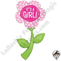 60 Inch Shape Fresh Picks It's A Girl Foil Balloon Betallic 1ct