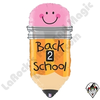 32 Inch Shape Back 2 School Pencil Foil Balloon Betallatex 1ct