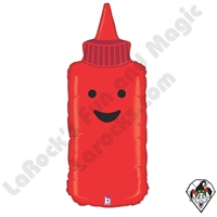 35 Inch Shape Ketchup Foil Balloon Betallic 1ct