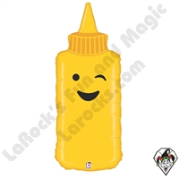 35 Inch Shape Mustard Foil Balloon Betallatex 1ct